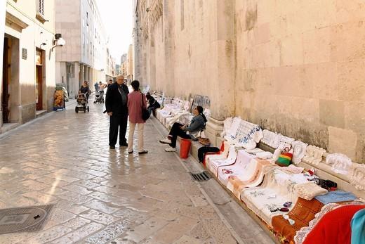 Local market on street of Zadar, Croatia : Stock Photo