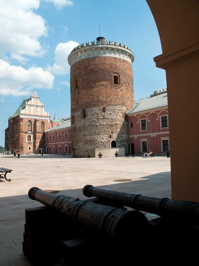 Neo-gothic Royal Castle, Lublin, Poland, Europe : Stock Photo