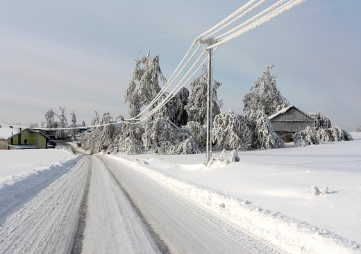 Winter scene, road : Stock Photo