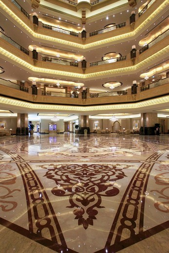 Stock Photo: 1566-813973 United Arab Emirates, Abu Dhabi, Emirates Palace Hotel, lobby,