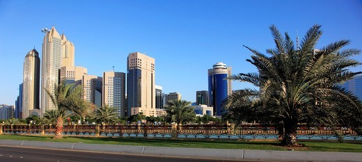 United Arab Emirates, Abu Dhabi, Corniche Road, : Stock Photo