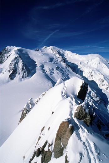 France, Alps, Savoie, Chamonix, Mont Blanc, : Stock Photo