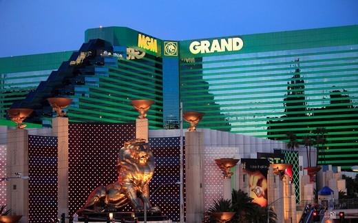 USA, Nevada, Las Vegas, MGM Grand, hotel, casino, resort, : Stock Photo