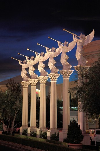 USA, Nevada, Las Vegas, The Forum Shops, statues, : Stock Photo