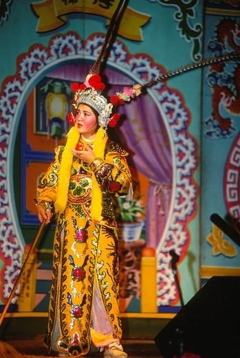 Malaysia, Chinese Opera performance, : Stock Photo
