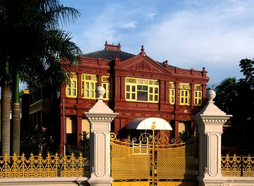 Malaysia, Penang, Georgetown, restored traditional mansion, : Stock Photo