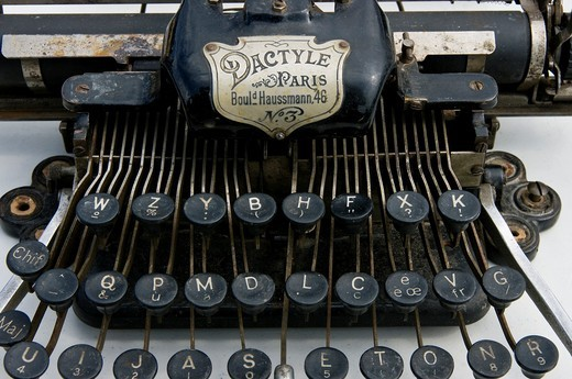 Antique typewriter. : Stock Photo