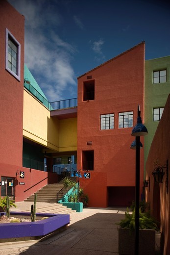 INNER COURTYARD LA PLACITA VILLAGE DOWNTOWN TUCSON ARIZONA USA : Stock Photo