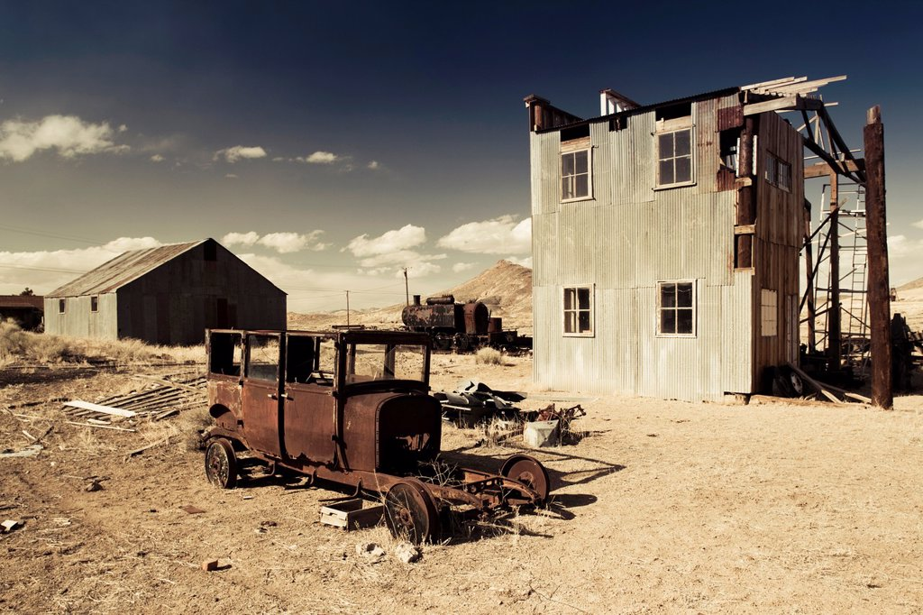 USA, Nevada, Great Basin, Goldfield, ghost town : Stock Photo