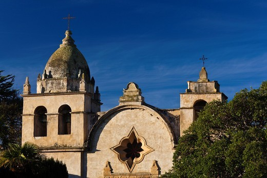 Stock Photo: 1566-816751 USA, California, Central Coast, Carmel-By-The-Sea, San Carlos Borromeo de Carmelo Mission
