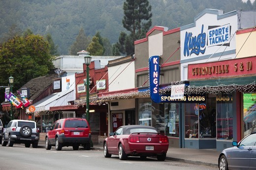 USA, California, Northern California, Russian River Wine Country, Guerneville, downtown : Stock Photo