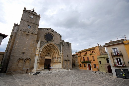 Church of Santa Maria of Castello d´Empuries, Girona, Spain : Stock Photo