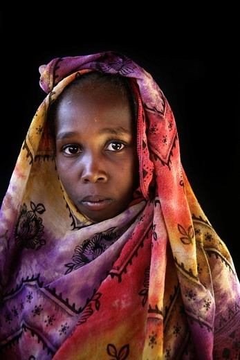 Stock Photo: 1566-818242 Sudanese refugee camp in Chad