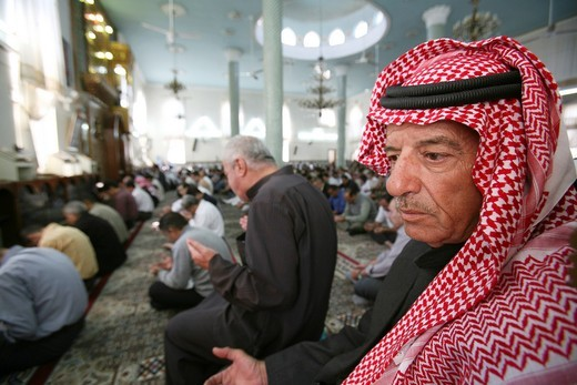 Mosque on friday in Amman, Jordan : Stock Photo