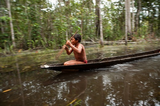 Xingu indians in the Amazon, Brazil : Stock Photo
