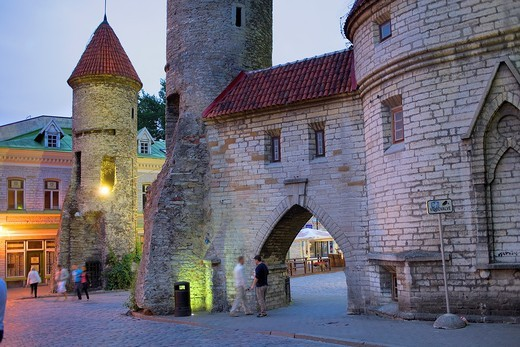 Viru Varav City Gate, Viru Street,Old Town,Tallinn,Estonia : Stock Photo