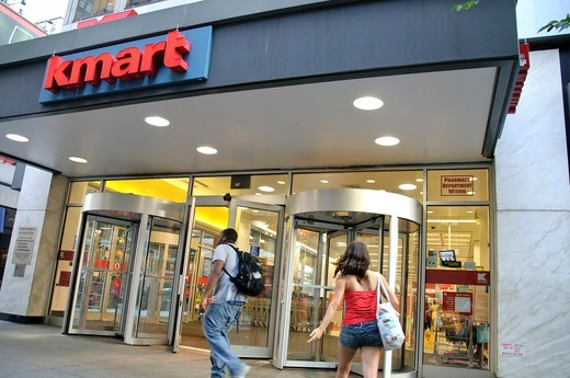 KMART store, August rush hour afternoon, 34 th Street, Herald Square, Manhattan, Broadway, New York City, USA : Stock Photo