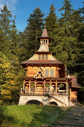 Stock Photo: 1566-819467 Jaszczurowka-antique wooden church in Zakopane, Poland, Europe