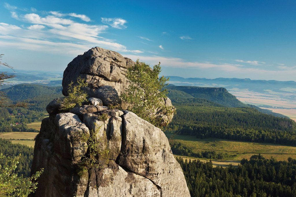 Rock Formation at Szczeliniec - Sudety Mountains, National Park, Poland, Europe : Stock Photo