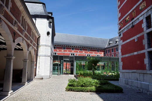 Entrance, Le Grand Curtius, Musée Curtius or Curtius Museum, Liège, Wallonia, Belgium, Europe, : Stock Photo