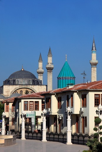 Turkey, Konya, Mevlana Museum, Celaleddin, Rumi, sufi, mystic, tomb, : Stock Photo