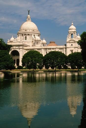 Stock Photo: 1566-819905 India, West Bengal, Kolkata, Calcutta, Victoria Memorial,