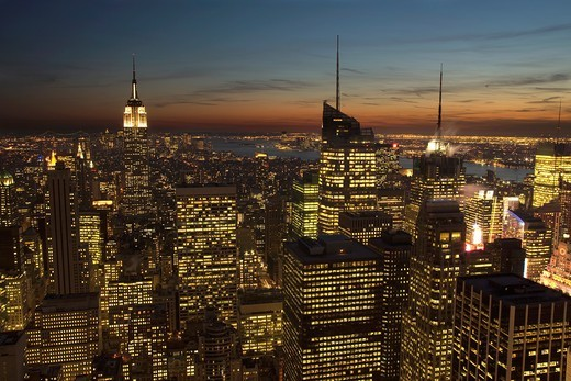 Stock Photo: 1566-820376 MIDTOWN SKYLINE MANHATTAN NEW YORK CITY USA