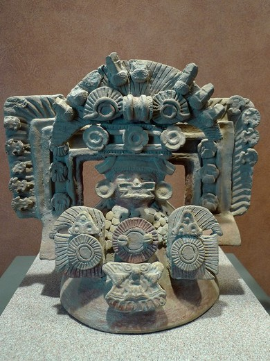 Pre-columbian hurn, Anthropology National Museum, Mexico City : Stock Photo