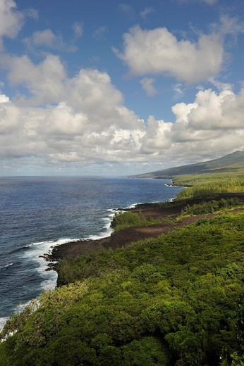 Stock Photo: 1566-822187 the coast named ´Le Grand Brule´ on the Southeast part of Reunion island, overseas departement of France, Indian Ocean