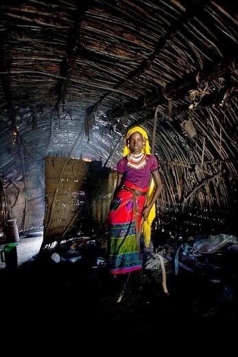 Halima is an ethiopian girl living in Ethiopia : Stock Photo