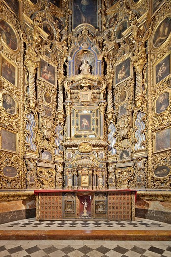 Stock Photo: 1566-822453 Altarpiece, San Luis de los Franceses church 18th century, Seville, Spain
