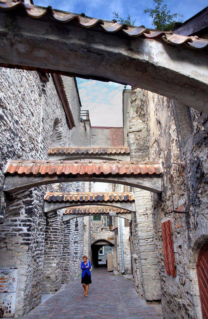 Stock Photo: 1566-822541 St Catherine´s Passage,Tallinn,Estonia