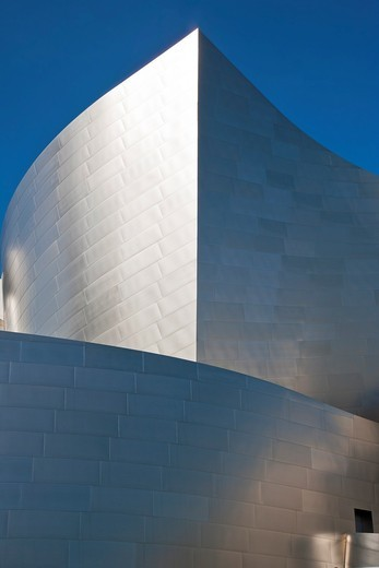 Disney Concert Hall by Frank Gehry on Bunker Hill in Los Angeles, California, USA : Stock Photo