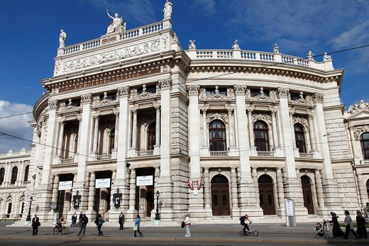 Austria, Vienna, Burgtheater  Created in 1741, the Austrian National Theatre in Vienna is one of the most important German language theatres in the world : Stock Photo