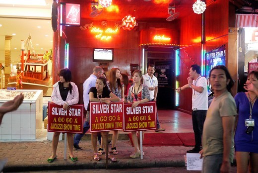 Stock Photo: 1566-825024 THAILAND  Pattaya, beach resort and centre for sex tourism  Bar girls and prostitutes