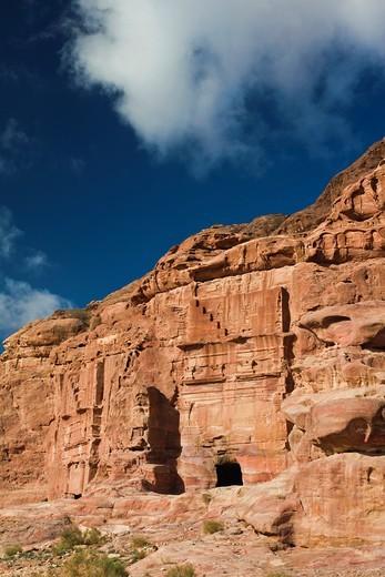 Jordan, Petra-Wadi Musa, Ancient Nabatean City of Petra, Turkmaniya Tomb : Stock Photo