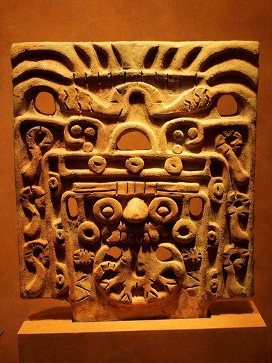 Tlaloc relief, Anthropology National Museum, Mexico City : Stock Photo