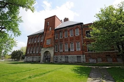 Stock Photo: 1566-825408 James Byron Dean Boyhood hometown and high school Fairmount Indiana IN