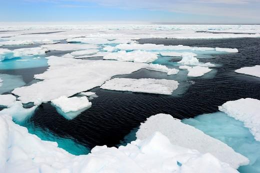 Stock Photo: 1566-825758 Melting ice, Floe Edge, Arctic Bay, Baffin Island, Nunavut, Canada