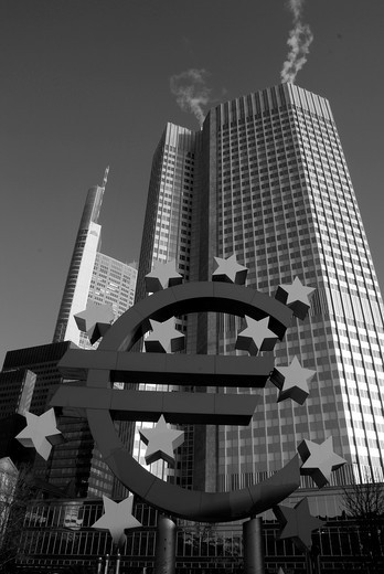 European Central Bank in Frankfurt / Main : Stock Photo