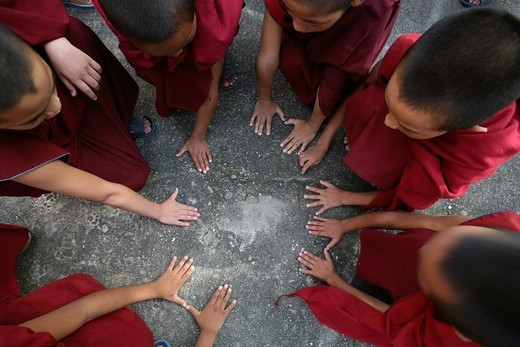 Tibetan Monks in Kathmandu, Nepal : Stock Photo