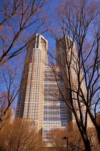 Stock Photo: 1566-826765 Metropolitan government of tokyo building,Shinjuku district,Tokyo, ,Japan, Asia