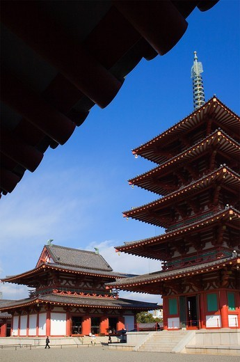 Stock Photo: 1566-826777 Shitennoji Temple,Osaka, Japan,Asia