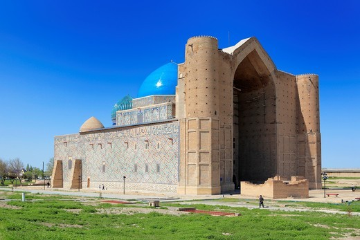 Mausoleum of Khoja Ahmed Yasawi 1397-1399  Turkestan, Kazakhstan : Stock Photo