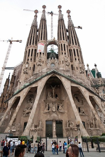 Stock Photo: 1566-827155 Sagrada Familia temple, Barcelona, Catalonia, Spain