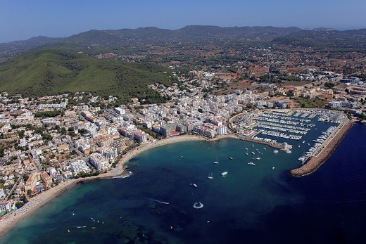 Santa Eularia del Riu, Ibiza, Balearic Islands, Spain : Stock Photo