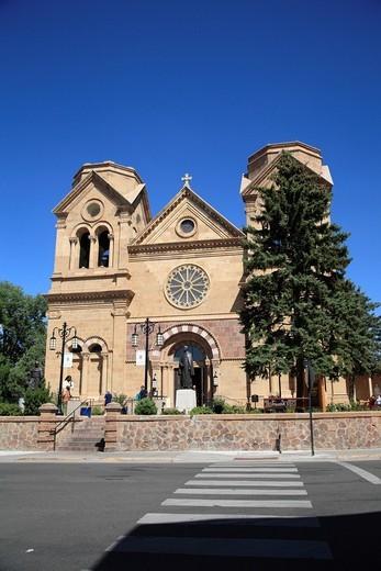 St  Francis Cathedral, Santa Fe, New Mexico, USA : Stock Photo