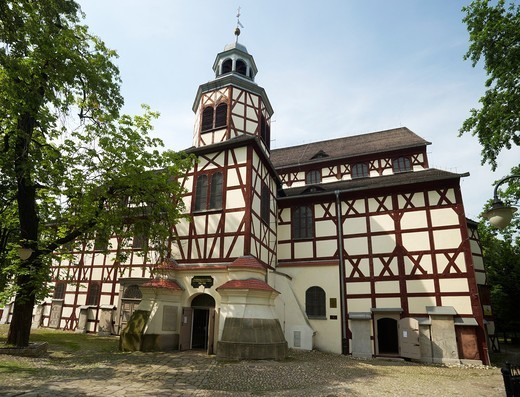 Evangelic Church of Peace, Jawor, Silesia region, Poland, Europe : Stock Photo