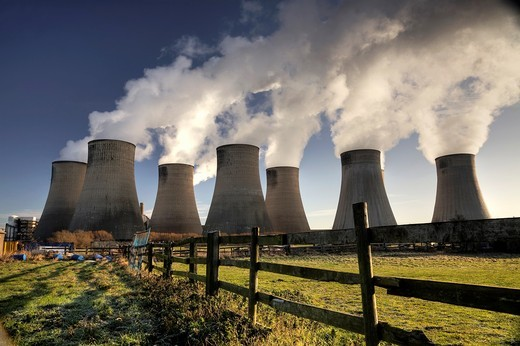 Ratcliffe on Soar coal fired power station  Ratcliffe, Nottinghamshire, UK : Stock Photo