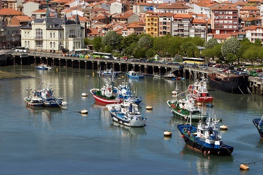 Fishing port of Bermeo, Biosphere Reserve Urdaibai, Bermeo, Biscay, Basque Country, Spain : Stock Photo